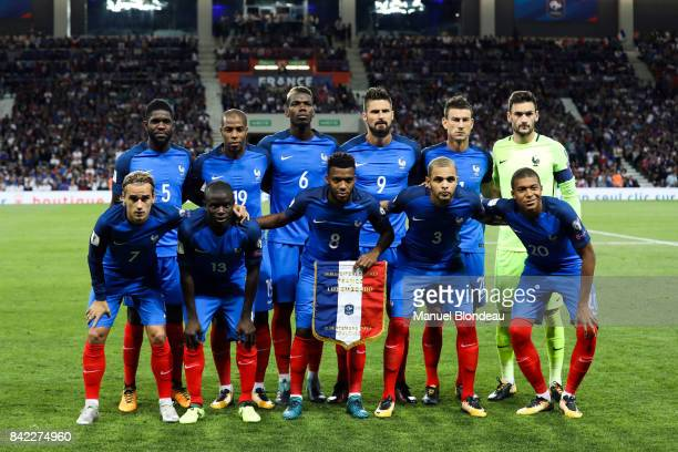Team France during the Fifa 2018 World Cup qualifying match between France and Luxembourg at on September 3 2017 in Toulouse France