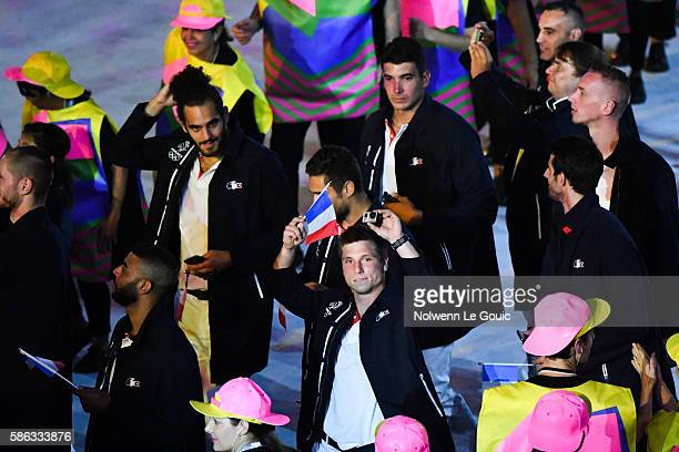 Team France during the Opening Ceremony 2016 on Olympic Games at Maracana Stadium on August 5 2016 in Rio de Janeiro Brazil