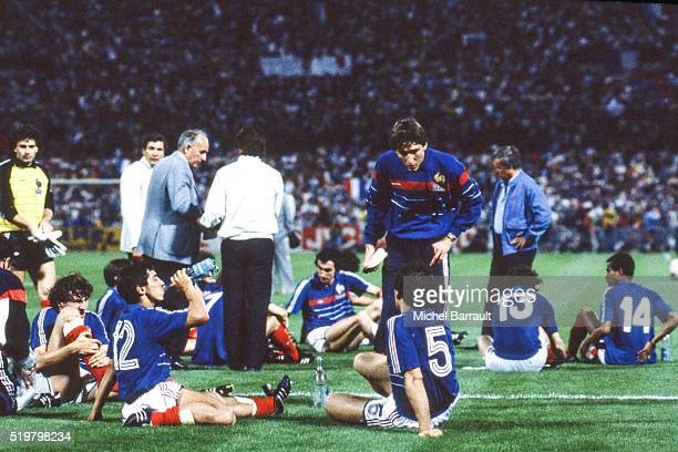 Team France during the Semi Final Football European Championship between France and Portugal Marseille France on 23 June 1984