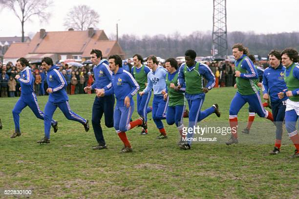 Team France during the stage of Team France at Le Touquet before the World Cup 1978 on 30th April 1978