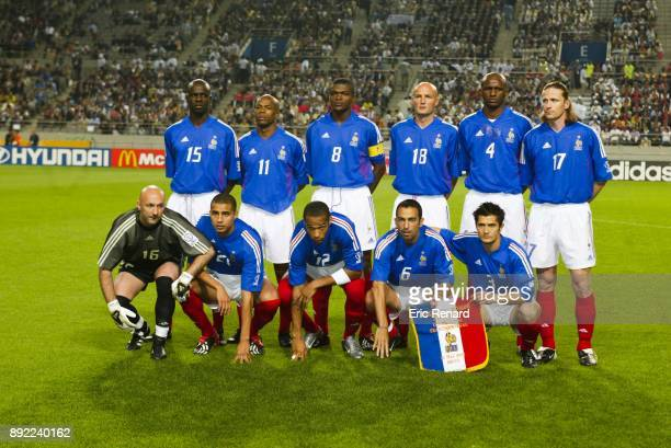 Team France lineup during the World Cup match between France and Senegal in World Cup Stadium Seoul South Korea on 31th May 2002 Lilian Thuram...