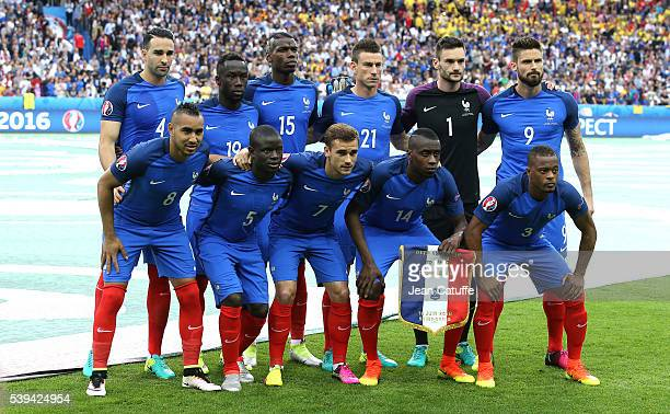 Team France poses before the UEFA Euro 2016 Group A opening match between France and Romania at Stade de France on June 10 2016 in SaintDenis near...