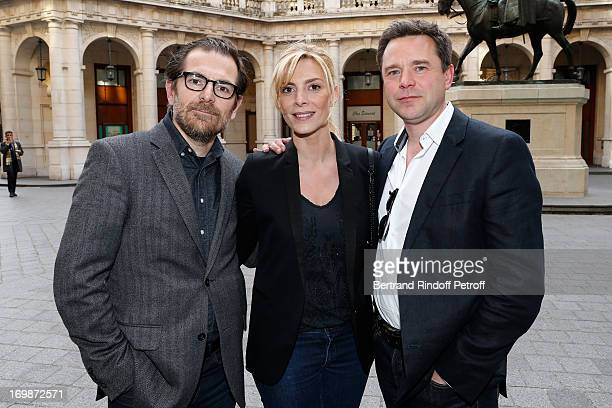 Team from the movie 'Le Prenom' Autor Matthieu Delaporte Actress Judith El Zein and Actor Guillaume de Tonquedec attend the delivery of the medal of...