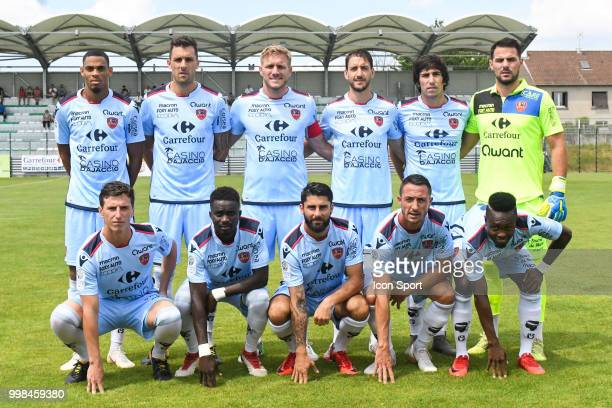 Team Gazelec Ajaccio during the friendly match between Bordeaux and Gazelec Ajaccio on July 13 2018 in Yzeure France