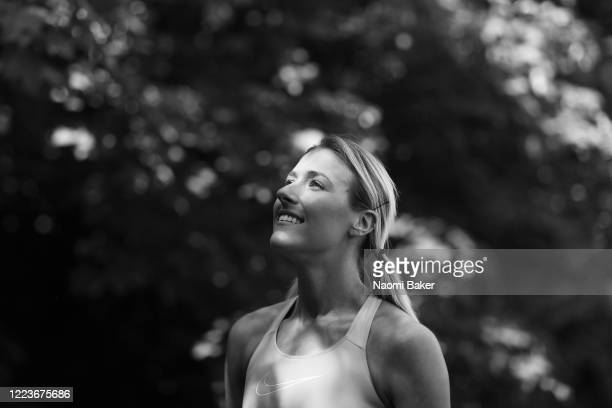 Team GB Athlete Jessie Knight of Great Britain poses for a portrait after she trains in a park near her house in Epsom She is also a Teacher at...