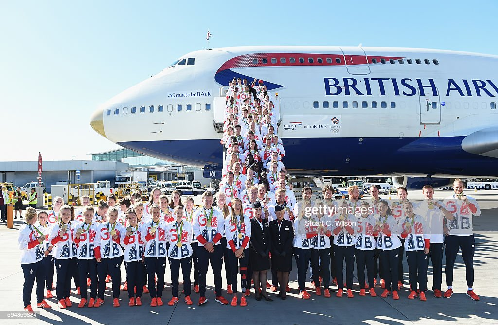 Team GB Arrive Home From The Rio Olympics : News Photo