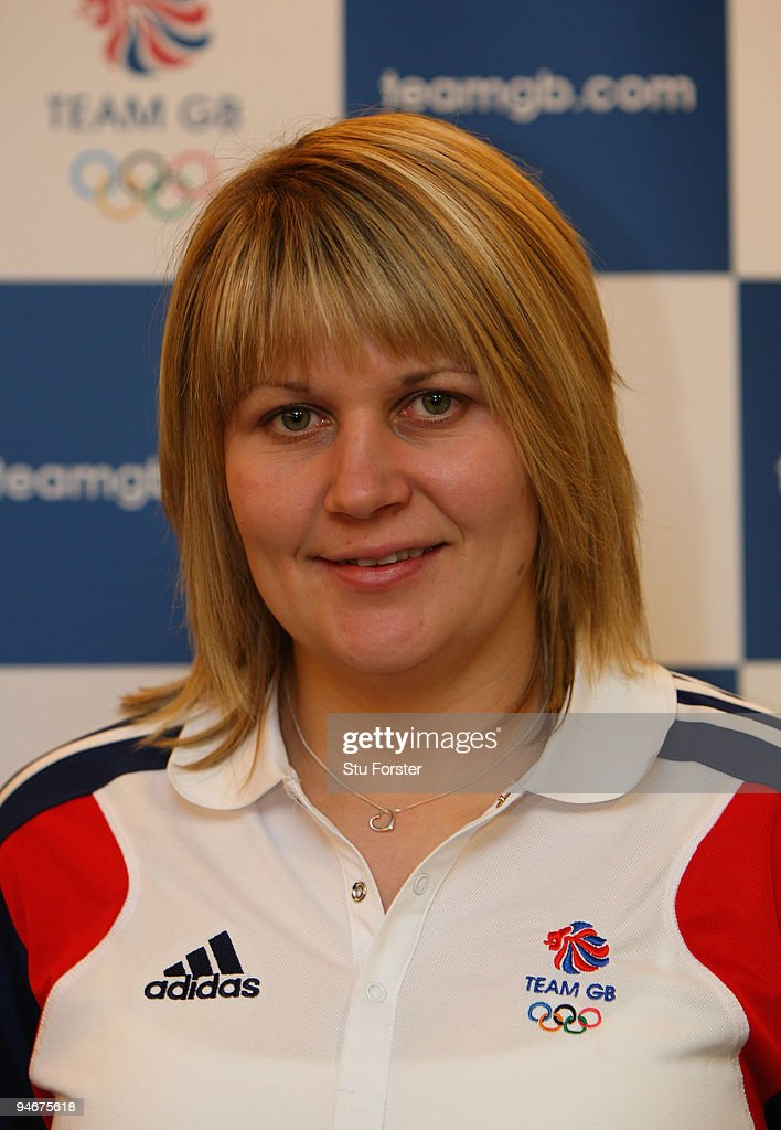 Team GB Curling Womens member, Lorna Vevers poses at the announcment of the Vancouver 2010 Olympic Winter Games Curling team at the Sofitel, Heathrow on December 17, 2009 in London, England.