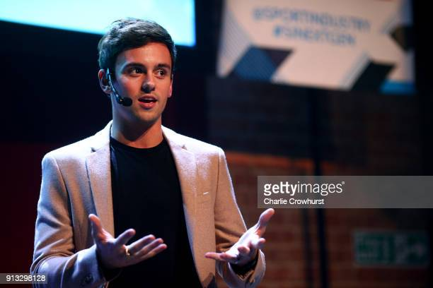 Team GB Diver Tom Daley chats to the audience during Sport Industry NextGen 2018 at Village Underground on February 1 2018 in London England