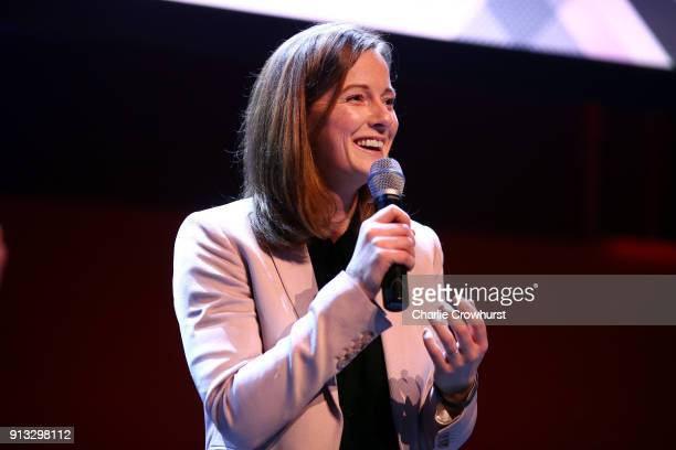 Team GB hockey Olympic Champion Helen RichardsonWalsh chats to the audience during Sport Industry NextGen 2018 at Village Underground on February 1...
