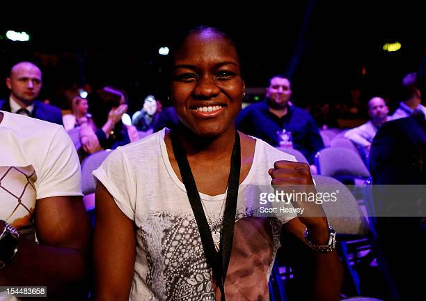 Team GB Olympic Gold medalist Nicola Adams during the IBF Welterweight Title Eliminator fight between Kell Brook and Hector Salvidia on October 20...