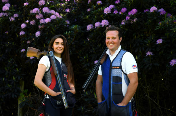 GBR: Team GB Olympic Trap Shooters Augusta Campos-Martyn And Matt Coward-Holley Training During The Coronavirus Pandemic