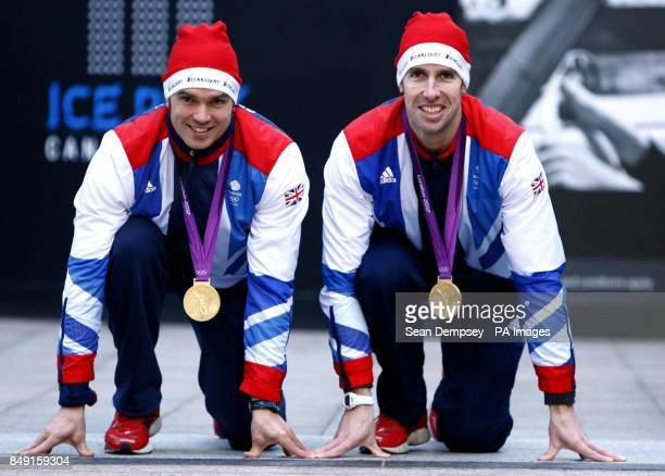 Team GB Slalom canoeists Tim Baillie and Etienne Stott at the beginning of Starlight's Twelve Days of Christmas Run Runners will take part around a...