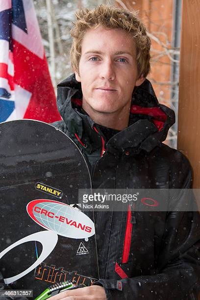 Team GB snowboarder Ben Kilner is seen infront of the Great Britain flag on 17 December 2012 in Frisco Colorado