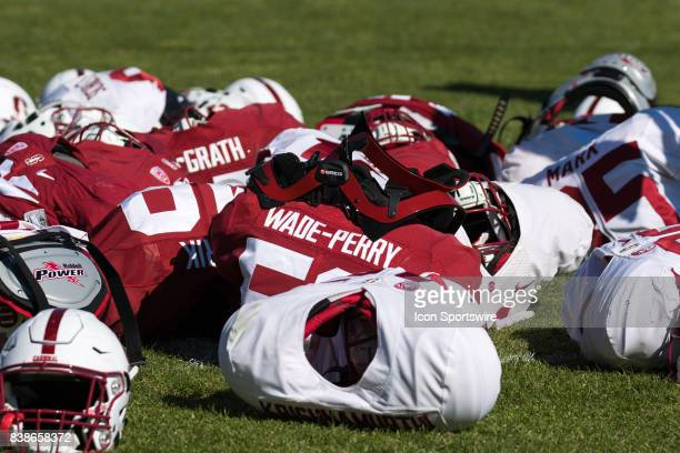 Team gear before practice at Stanford Cardinal open practice day on August 23 in Sydney Australia