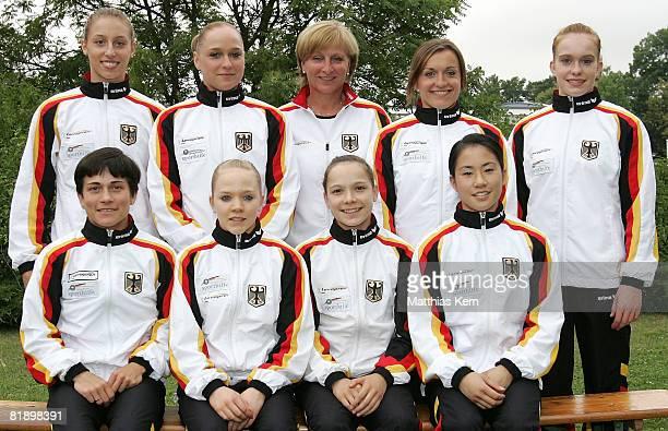 Team Germany Gymnastics squad photo Oksana Chusovitina Anja Brinker Joeline Moebius Kim Bui MarieSophie Hindermann Katja Abel Ursula Koch Daria Bijak...