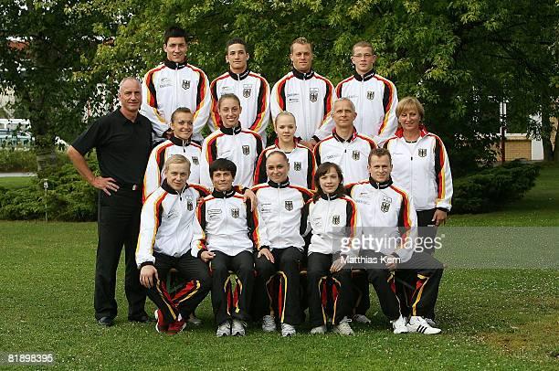 Team Germany Gymnastics squad photo Philipp Boy Marcel Nguyen Thomas Andergassen Fabian Hambuechen Wolfgang Willam Daria Bijak MarieSophie Hindermann...