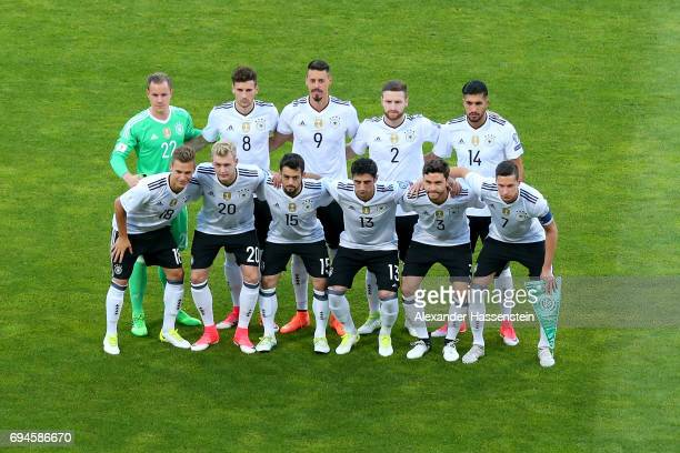 Team Germany lineup for the FIFA 2018 World Cup Qualifier between Germany and San Marino at on June 10 2017 in Nuremberg Bavaria