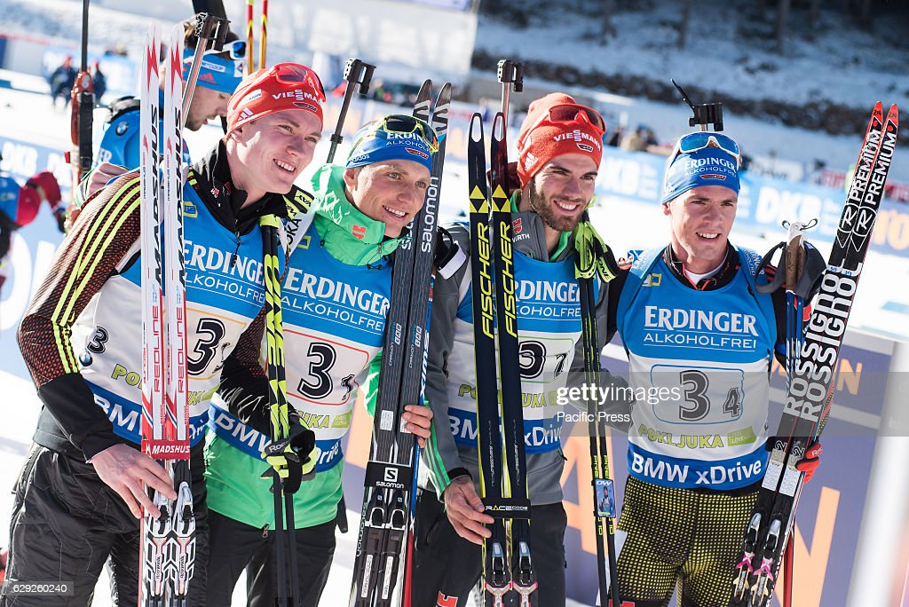 Team Germany on podium celebrating their third place at the... : Nachrichtenfoto