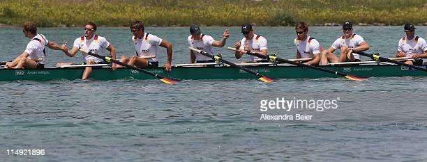 Team Germany with Martin Sauer , Kristof Wilke, Toni Seifert, Lukas Mueller, Richard Schmidt, Florian Mennigen, Eric Johannesen, Andreas Kuffner and...