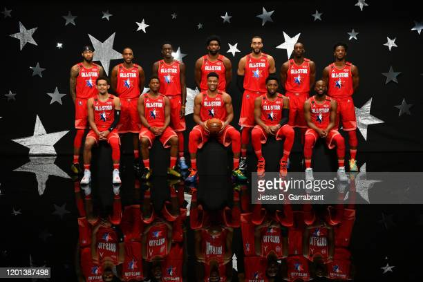 Team Giannis poses for a team photo before the 69th NBA AllStar Game on February 16 2020 at the United Center in Chicago Illinois NOTE TO USER User...