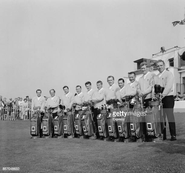 Team Great Britain at the 1965 Ryder Cup competition held at Royal Birkdale Golf Club in Southport UK October 1965 Not in order Harry Weetman Peter...