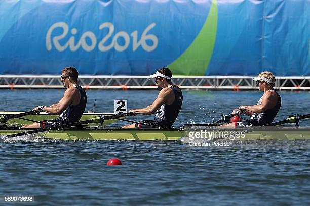 Team Great Britain compete in the Men's Eight Final A on Day 8 of the Rio 2016 Olympic Games at the Lagoa Stadium on August 13 2016 in Rio de Janeiro...