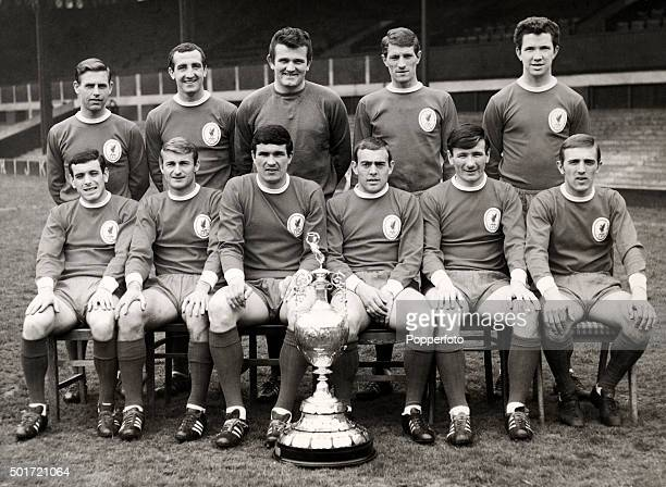 A team group photograph of Liverpool Football Club with the First Division Championship trophy circa 1966 Back row left to right Gordon Milne Gerry...
