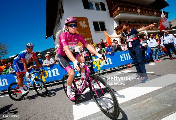 Team GroupamaFDJ rider France's Arnaud Demare prepares to take part in stage eighteen of the 102nd Giro d'Italia Tour of Italy cycle race 222kms from...