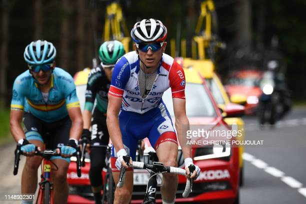 Team Groupama-FDJ rider France's David Gaudu rides during the second stage of the 71st edition of the Criterium du Dauphine cycling race, 180 km...