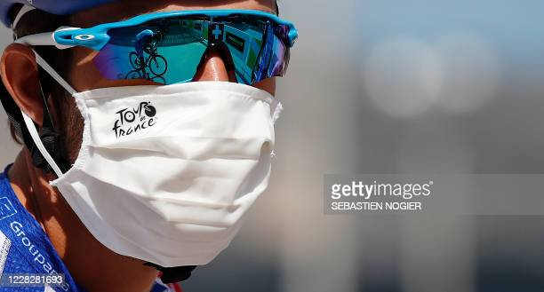 Team Groupama-FDJ rider France's Thibaut Pinot attends prior the start of the 3rd stage of the 107th edition of the Tour de France cycling race, 198...