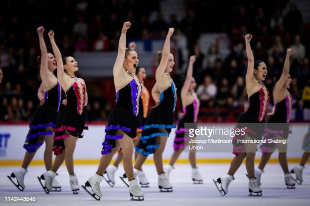 Team Haydenettes of the United States perform in the Free Skating during day two of the ISU World Synchronized Skating Championships at Helsinki...