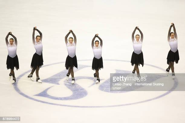 Team Haydenettes of USA performs during a Synchronized Skating free skate duirng the 2017 Shanghai Trophy at the Oriental Sports Center on November...