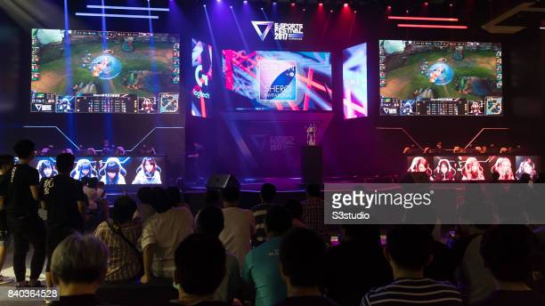 Team HLL competes against Team Just Kittin' during the SHERO Invitational of the ESports Festival 2017 Hong Kong at the Hong Kong Convention and...
