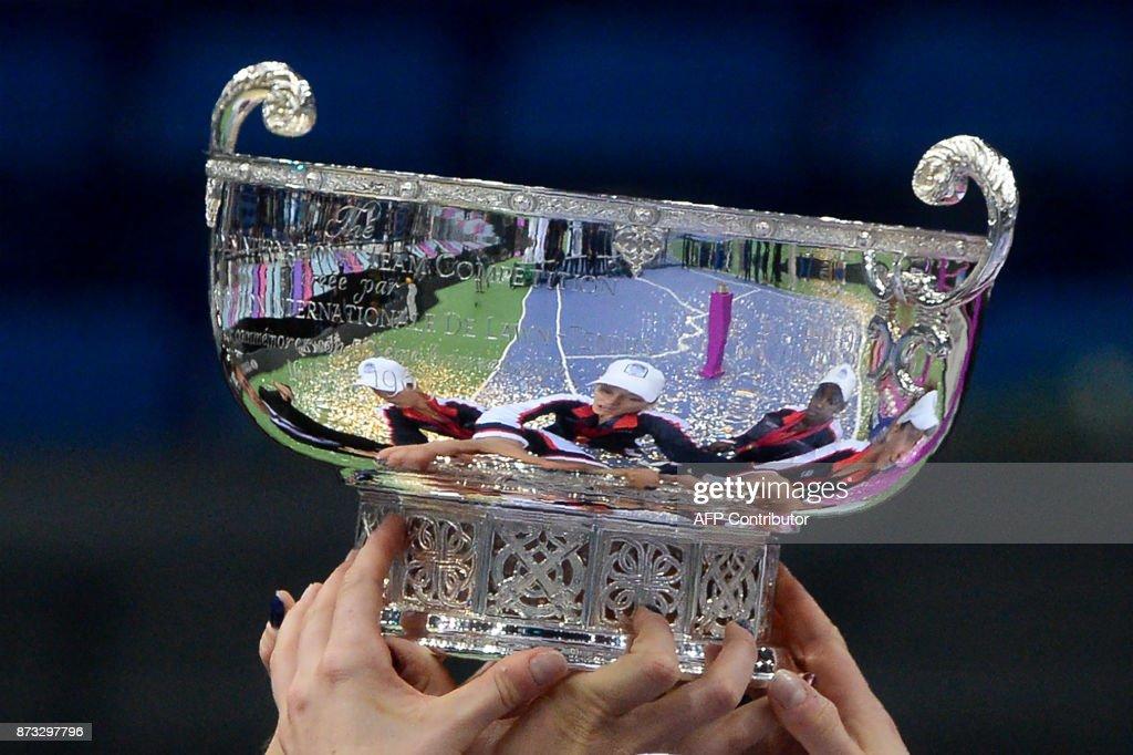 TENNIS-FED-CUP-FINAL-BLR-USA : News Photo