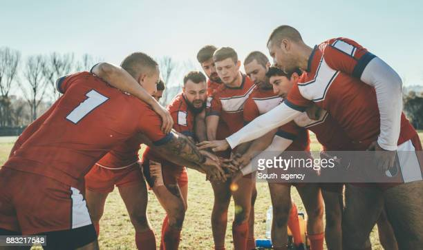 team huddle - rugby team stock pictures, royalty-free photos & images
