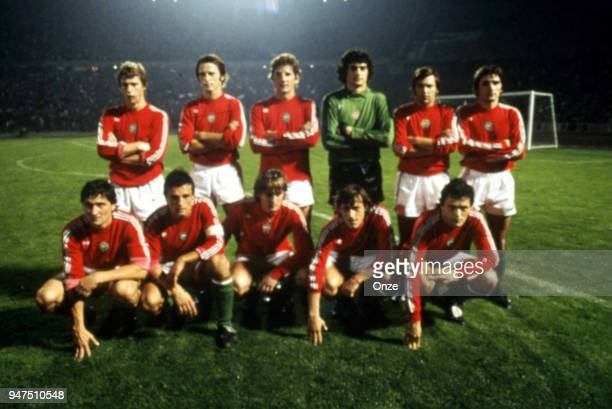 Team Hungary during a presentation of team qualifying for the World Cup 1978 in Argentina on 28th December 1977