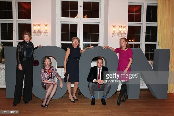 Team ICON Julia Hackober Carola Curio Inga GrieseSchwenkow Philip Cassier and Julia Soergel during the birthday party for the 10th anniversary of...