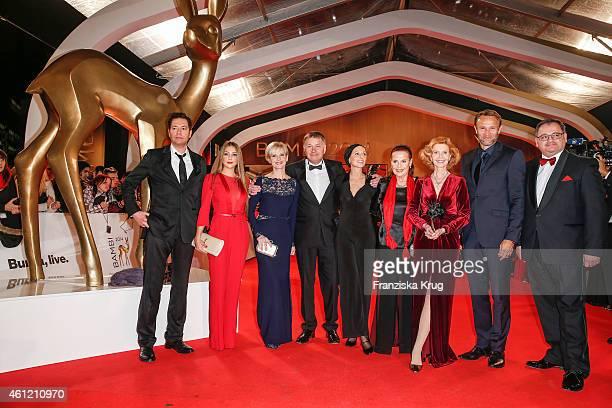 "Team ""In aller Freundschaft"" arrive at the Bambi Awards 2014 on November 13, 2014 in Berlin, Germany."