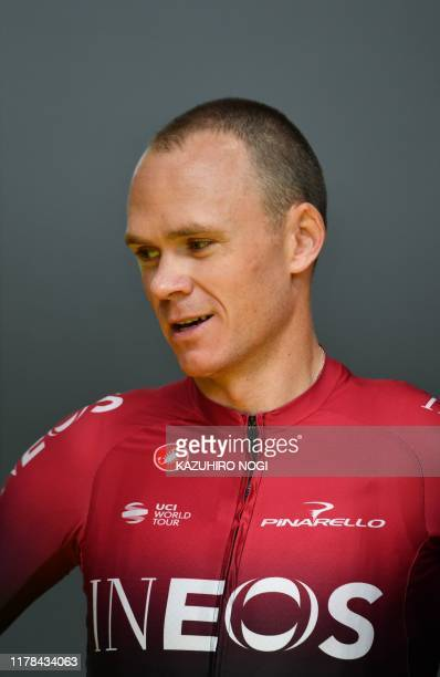 Team Ineos' Chris Froom of Britain poses prior to the opening ceremony of the 2019 Tour de France Saitama criterium cycling race in Saitama on...