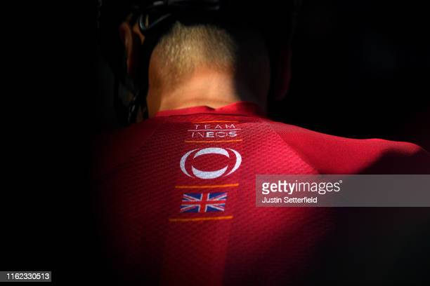 Team INEOS Jersey / United Kingdom Flag / Detail view / during the 106th Tour de France 2019 - Team INEOS - Training / Rest Day / TDF / #TDF2019 /...