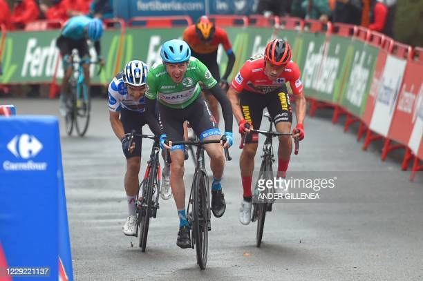 Team Israel Academy rider Ireland's Daniel Martin wins the 3rd stage of the 2020 La Vuelta cycling tour of Spain, a 166,1 km race from Lodosa to La...