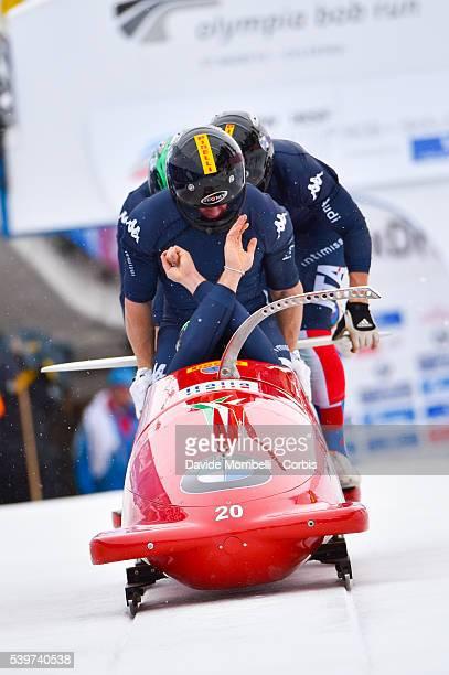 team Italian BERTAZZO Simone FONTANA Simone UGHI Costantino COSTA Francesco ITA BMW IBSF World Cup Bob 2015/2016 St Moritz Swiss