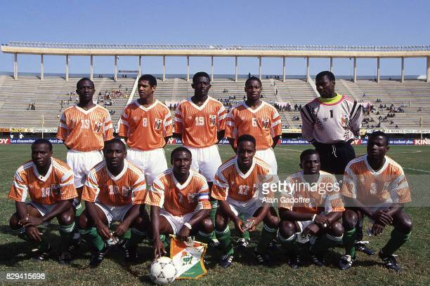Team Ivory Coast during the African Cup Nations match between Zambia and Ivory Coast in Stade de l'Amitie Dakar Senegal on 20th January 1992 Alain...