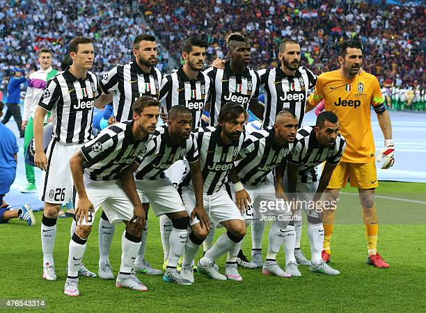 Team Juventus poses prior to the UEFA Champions League Final between Juventus Turin and FC Barcelona at Olympiastadion on June 6 2015 in Berlin...