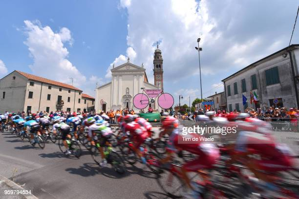 Team Katusha-Alpecin / Mardimago City / Landscape / Peloton / Church / during the 101st Tour of Italy 2018, Stage 13 a 180km stage from Ferrara to...