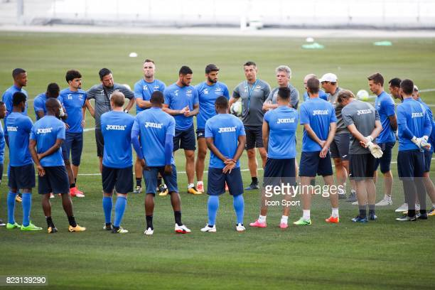 Team KV Ostende during the training session before the UEFA Europa League qualifying match between Marseille and Ostende at Stade Velodrome on July...