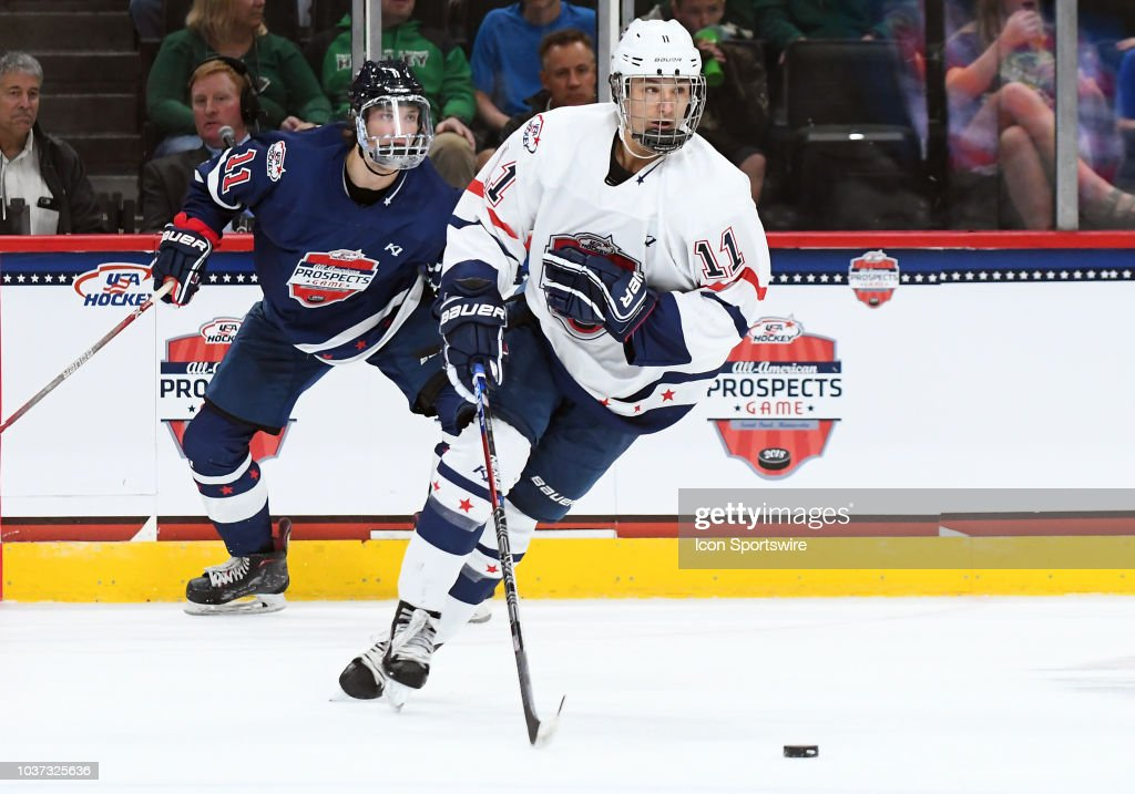 HOCKEY: SEP 19 USA Hockey All-American Prospects Game : ニュース写真