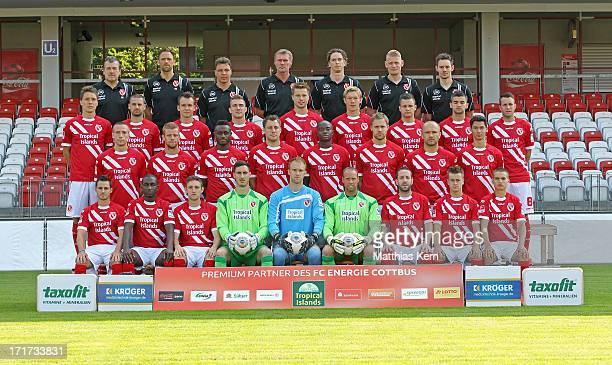 Team leader Andre Rohbock, goalkeeper coach Ronny Zeiss, assistant coach Uwe Speidel, head coach Rudi Bommer, fitness coach Matthias Grahe,...