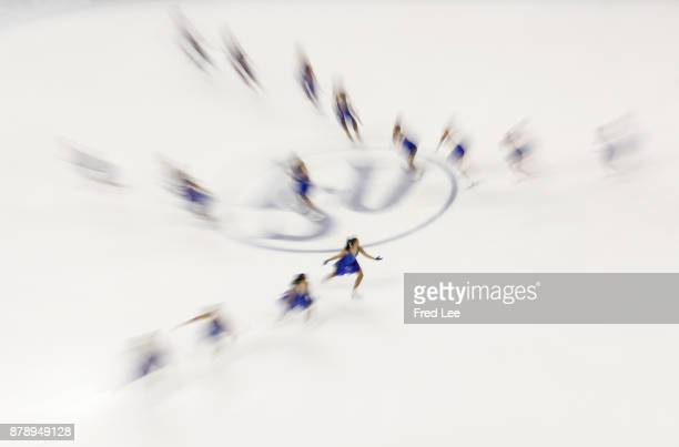Team Les Supremes of Canada performs during a Synchronized Skating free skate duirng the 2017 Shanghai Trophy at the Oriental Sports Center on...