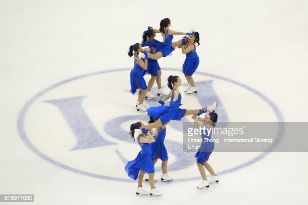 Team Les Supremes Seniors of Canada performs during a Synchronized Skating free skate duirng the 2017 Shanghai Trophy at the Oriental Sports Center...